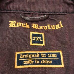 Rock Revival Jackets & Coats - Rock Revival Luciano Burgundy Distress Jacket XXL